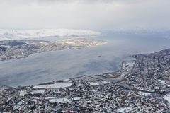 View down on Tromso, Norway Stock Photography