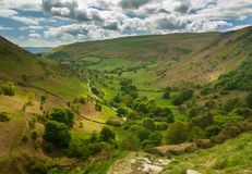 View Down Valley From Top Of Pistyll Rhaeadr Stock Image