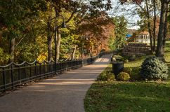 Walkway Along the Wisconsin River Stock Images