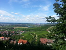 View down from a watchtower. Scenery taken from a watchtower stock photography