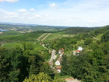 View down from a watchtower. Scenery taken from a watchtower royalty free stock photography