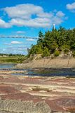 View Downstream On The Chaudiere River stock photography
