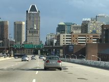 View of downtown Baltimore in Maryland stock photo