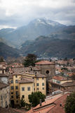 View of downtown Barga, Italy. Small housing in Barga, Italy, tightly built together Stock Photos