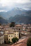 View of downtown Barga, Italy Stock Photos