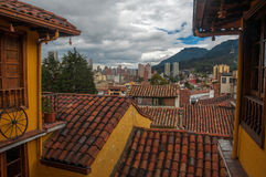 View of Downtown Bogota. Downtown Bogota, Colombia as seen from the historic Candelaria neighborhood Stock Photography
