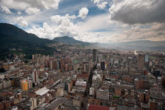 View of downtown Bogota in Colombia from above Royalty Free Stock Photo