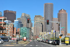 View of downtown Boston in Massachusetts Stock Photography