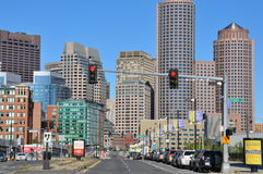 View of downtown Boston in Massachusetts Stock Photo