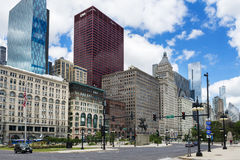 View of the downtown of the city of Chicago, in the State of Illinois, USA. Chicago, Illinois, USA - July 1, 2014: View of the downtown of the city of Chicago Stock Photos