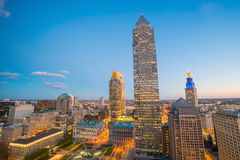 View of downtown Cleveland Stock Image