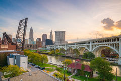 View of downtown Cleveland Stock Images