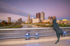 View of downtown Columbus Ohio Skyline Stock Images