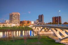 View of downtown Columbus Ohio Skyline Royalty Free Stock Photo