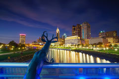 View of downtown Columbus Ohio Skyline royalty free stock image