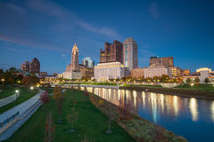 View of downtown Columbus Ohio Skyline Royalty Free Stock Images