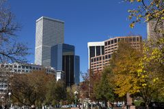 View from  downtown Denver Royalty Free Stock Image