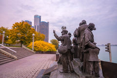 View of downtown Detroit in Michigan stock image