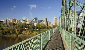 View of downtown Edmonton from bridge - Canada Stock Images