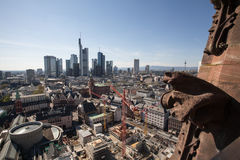 View on downtown frankfurt from the historic frankfurter dom Royalty Free Stock Images