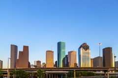 View on downtown Houston in late Royalty Free Stock Image
