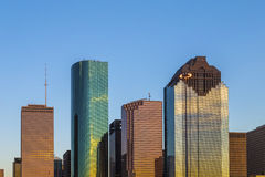 View on downtown Houston in late Stock Images