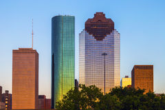 View on downtown Houston in late Royalty Free Stock Photography