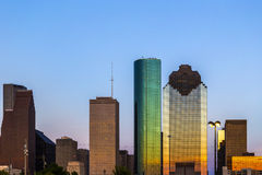 View on downtown Houston in late Royalty Free Stock Images