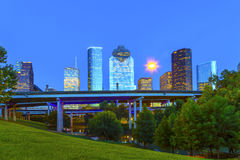 View on downtown Houston in late Stock Photography