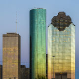 View on downtown Houston in late afternoon Royalty Free Stock Image