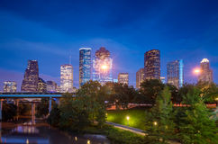 View of downtown Houston at twilight Stock Image