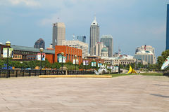 View of downtown Indianapolis, Indiana Royalty Free Stock Photography