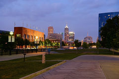 View of Downtown Indianapolis Stock Photos