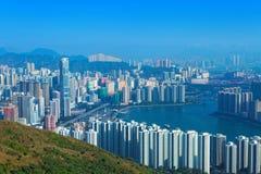 View of Downtown Kowloon Hongkong Stock Photography