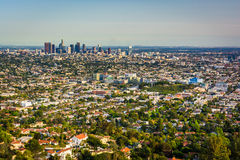 View of the downtown Los Angeles Skyline  Stock Photos