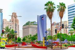 View of the Downtown of Los Angelos, in the daytime stock photos