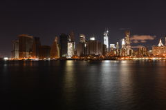 View of downtown Manhattan after Hurricane Sandy Stock Image