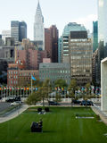 View of Downtown Manhattan from UN Headquarters Royalty Free Stock Photography