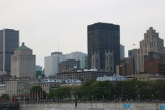 Downtown Montreal City Stock Photography
