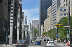 View of Downtown Montreal Stock Images