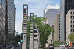 View of Downtown Montreal stock photography