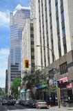View of Downtown Montreal stock photos