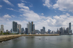 View of the downtown of Panama City with modern buildings on the background Stock Photography