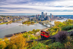 View of downtown Pittsburgh Royalty Free Stock Photos