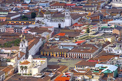 View of downtown Quito Stock Images