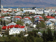 View of Downtown Reykjavik. Colorful houses in downtown Reykjavik Stock Photos