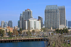 View of downtown San Diego from bay Royalty Free Stock Image