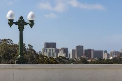 View of Downtown San Diego From Cabrillo Bridge royalty free stock photos