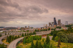 View of downtown Seattle skyline royalty free stock photography