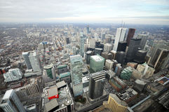 View of the downtown of Toronto. This photo was taken in Toronto City, Ontario Province, Canada Stock Images